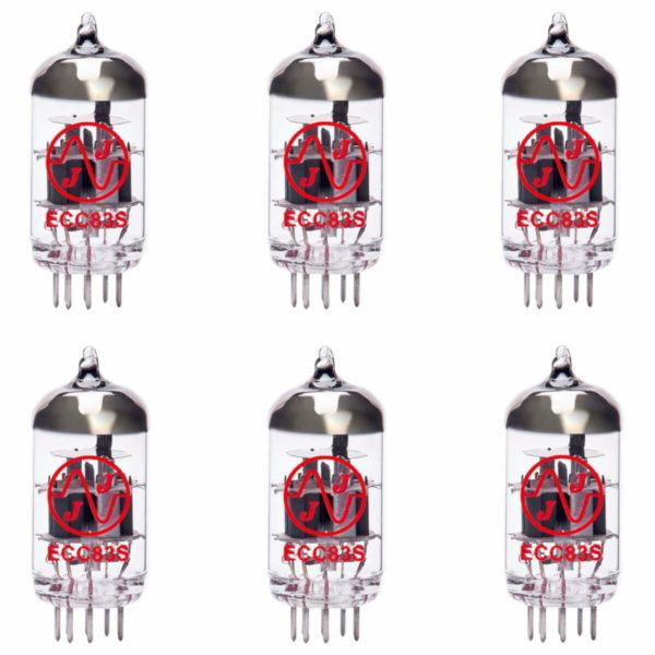 6 x ECC83 (12AX7) Röhren / Tube JJ Electronics