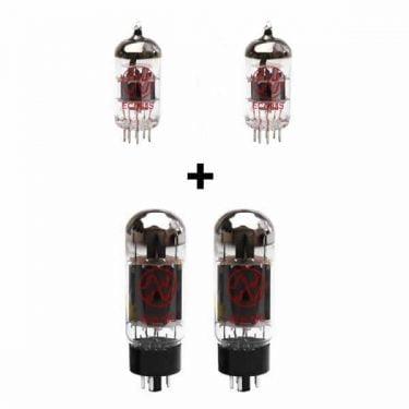 Ersatzröhren Set Für Blackstar Ht Metal 60 (2 X Ecc83 2 X Gematchte 6l6gc)