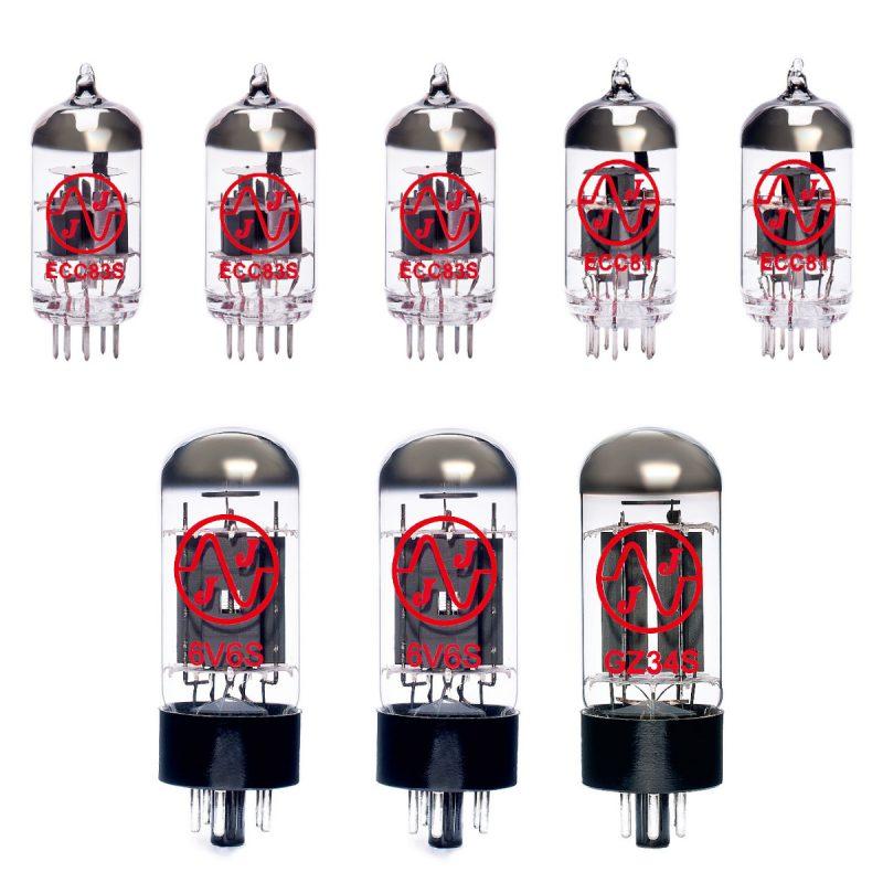 Ersatzröhren-Set für Fender 64 Custom Deluxe Reverb (3 x ECC83 2 x ECC81 2 x Gematchte 6V6S)