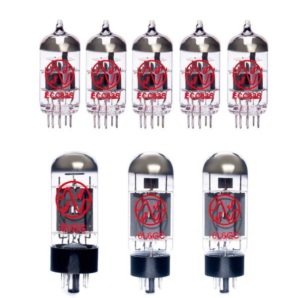 Ersatzröhren-Set für Fender Vibro King (4 x ECC83 1 x Symmetrische ECC83 2 x Gematchte 6L6GC 1 x 6V6S)