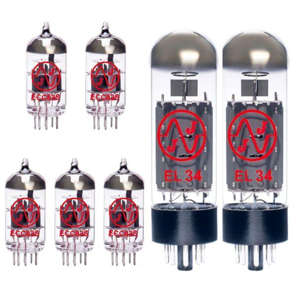 Ersatzröhren-Set für Marshall JCM800 4212 Verstärker (4 x ECC83 1 x Symmetrische ECC83 2 x Gematchte EL34)