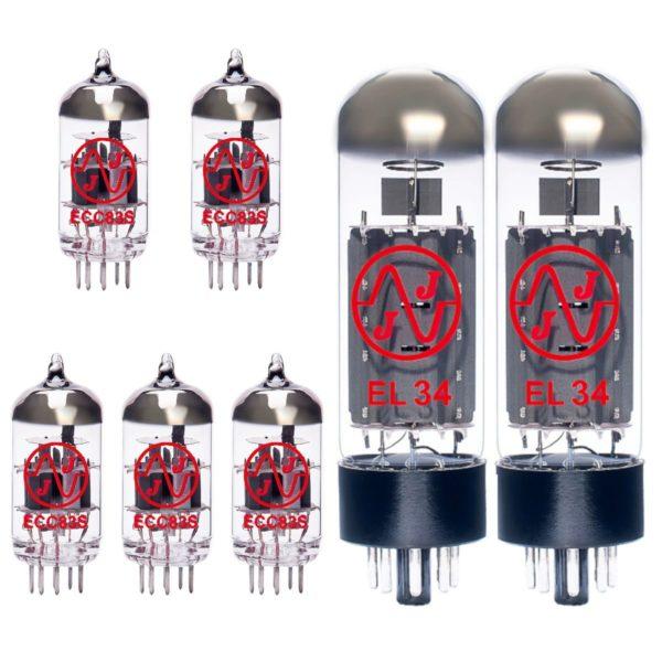 Ersatzröhren-Set für Marshall JVM 205H Verstärker (4 x ECC83 1 x Symmetrische ECC83 2 x Gematchte EL34)