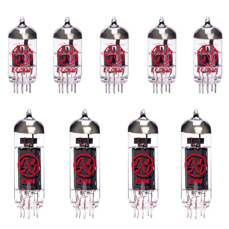 Ersatzröhren-Set für Mesa Boogie Nomad 45 Verstärker (4 x ECC83 1 x Symmetrische ECC83 4 x EL84 Green/6 Gematchte)