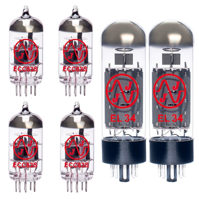 Ersatzröhren-Set für Vox NT50H-G1 Verstärker (3 x ECC83 1 x Symmetrische ECC83 2 x Gematchte EL34)
