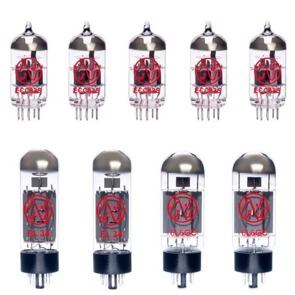 Ersatzröhren-Set für Mesa Boogie Mark III Red Stripe Verstärker (4 x ECC83 1 x Symmetrische ECC83 2 x Gematchte EL34 2 x Gematchte 6L6GC)