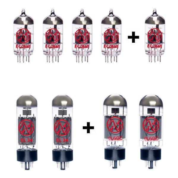 Ersatzröhren Set Für Mesa Boogie Mark Iii Red Stripe (4 X Ecc83 1 X Symmetrische Ecc83 2 X Gematchte El34 2 X Gematchte 6l6gc)