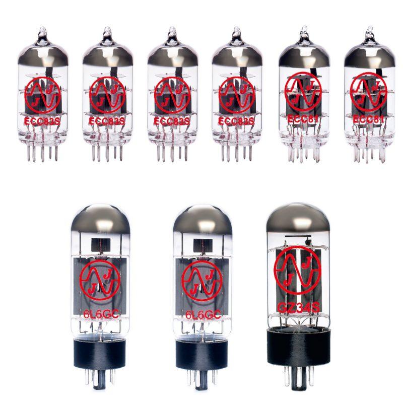 Ersatzröhren-Set für Fender Pro Reverb 1965-74 (1 x ECC81 1 x Symmetrische ECC81 4 x ECC83 2 x Gematchte 6L6GC 1 x GZ34)
