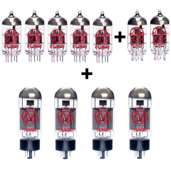 Röhren Set Für Röhrenverstärker Fender Twin Reverb Ii (5 X Ecc83 1 X Ecc81 1 X Symmetrische Ecc81 4 X Gematchte 6l6gc)