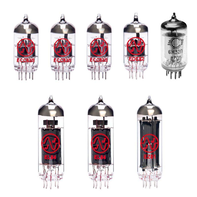 Ersatzröhren-Set für Vox AC15HW60 Verstärker (3 x ECC83 1 x ECC82 1 x EF86 2 x Gematchte EL84 1 x EZ81)