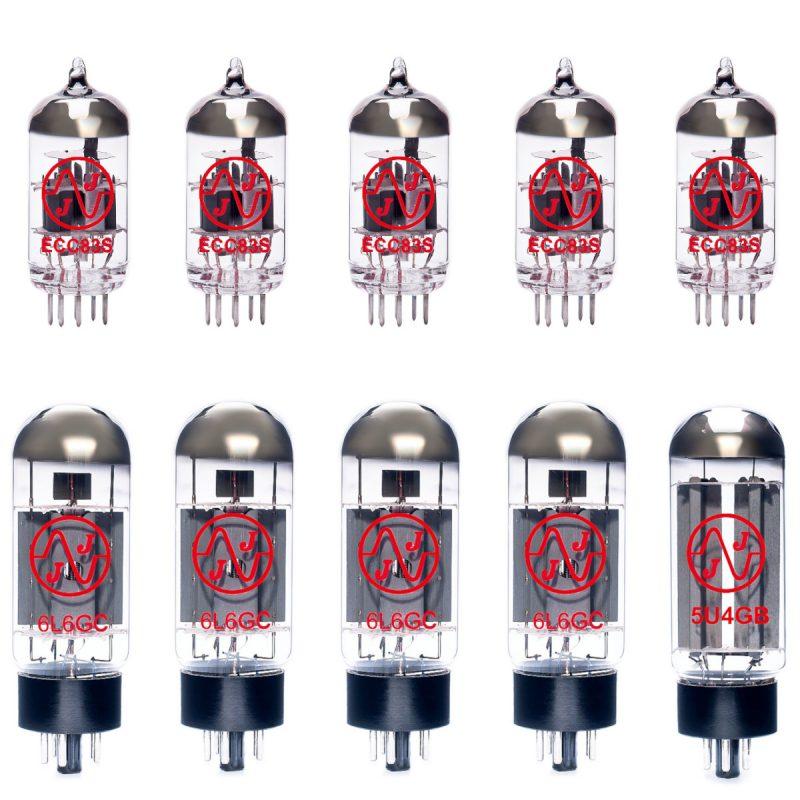 Ersatzröhren-Set für Mesa Boogie Lone Star Verstärker (4 x ECC83 1 x Symmetrische ECC83 1 x 5U4GB 4 x Gematchte 6L6GC 9/Yellow)