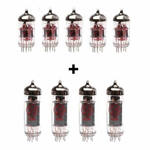 Röhren Set für Röhrenverstärker Cornford Hellcat (4 x ECC83 1 x Symmetrische ECC83 4 x Gematchte EL84)