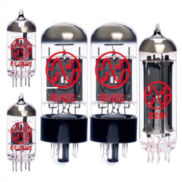 Röhren Set für Röhrenverstärker Dynacord Twen MKII (1 x ECC83 1 x Symmetrische ECC83 2 x 6V6S 1 x EZ81)