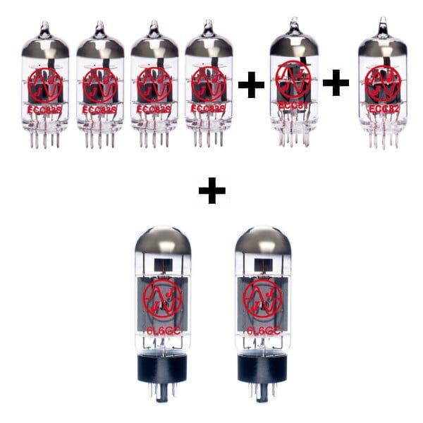 Röhren Set für Röhrenverstärker Supro 1697R Galaxy (4 x ECC83 1 x ECC81 1 x ECC82 2 x Gematchte 6L6GC)