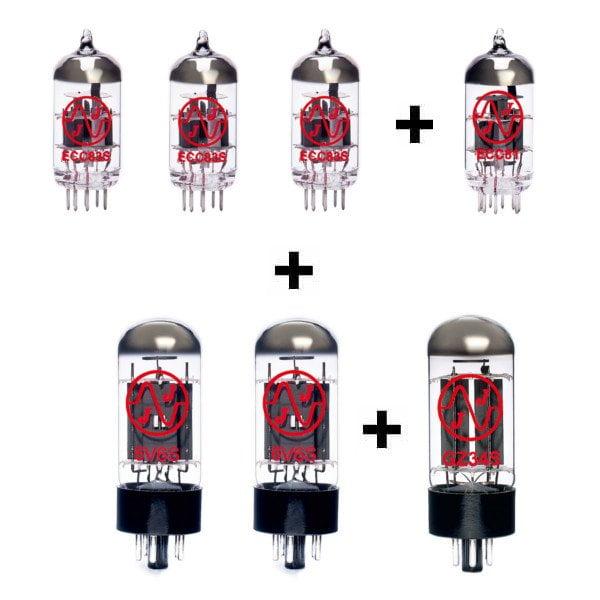 Röhren Set für Röhrenverstärker Tone King Imperial MKII (3 x ECC83 1 x Symmetrische ECC83 1 x ECC81 2 x Gematchte 6V6S 1 x GZ34S)