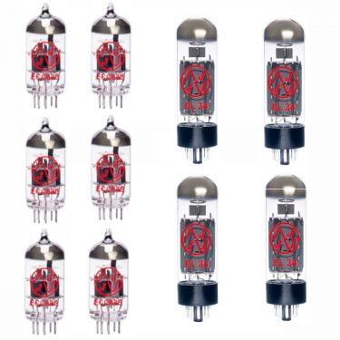 Röhren Set Für Röhrenverstärker Bogner Ecstasy 101b (5 X Ecc83 1 X Symmetrische Ecc83 4 X Gematchte El34)