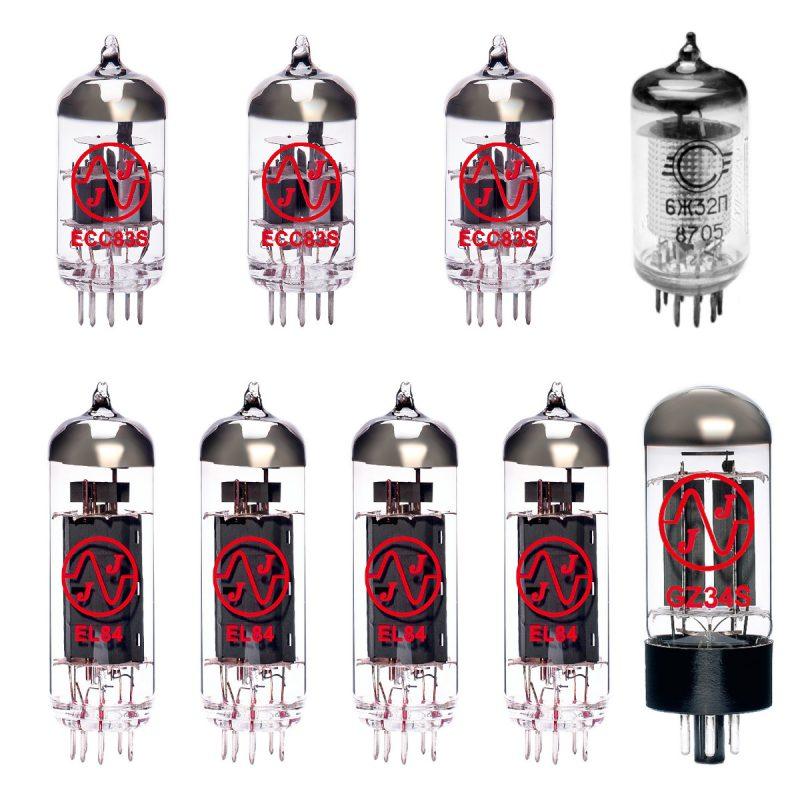 Ersatzröhren-Set für Vox AC30 H2 Verstärker (1 x EF86 2 x ECC83 1 x Symmetrische ECC83 1 x GZ34 4 x Gematchte EL84)