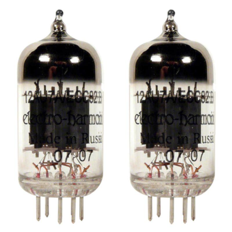 2 x Symmetrische ECC82 (12AU7EH) Röhren / Tubes Electro Harmonix NEU GETESTET