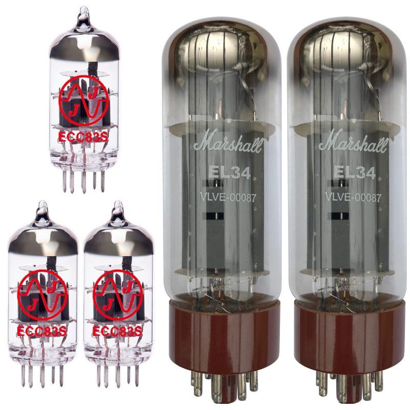 Ersatz Marshall Röhren-Set für Marshall 1987X Plexi Reissue Verstärker (2 x JJ ECC83 1 x JJ Symmetrische ECC83 2 x Marshall Gematchte EL34)