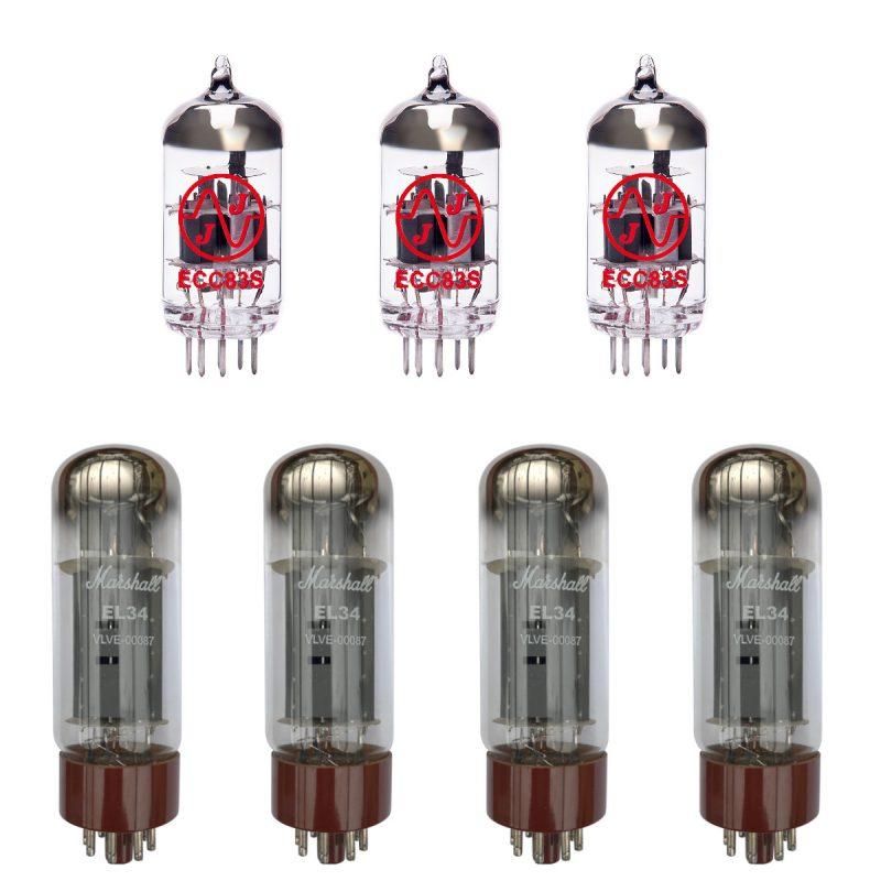 Ersatz Marshall Röhren-Set für Vox Marshall 1959HW Verstärker (2 x JJ ECC83 1 x Symmetrische JJ ECC83 4 x Marshall Gematchte EL34)
