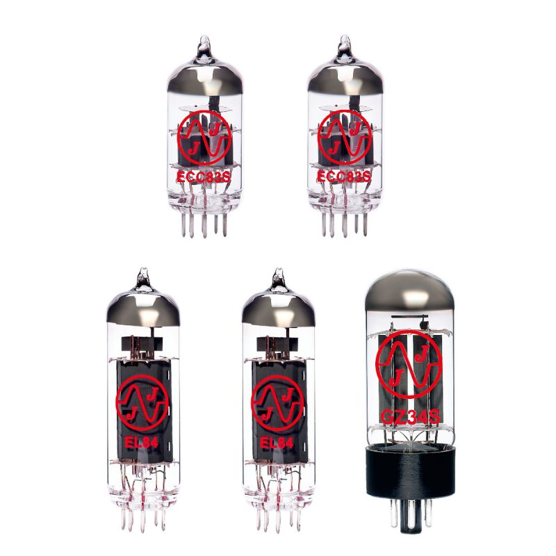 Ersatzröhren-Set für Cornell Plexi 18/20 (1 x ECC83 1 x Symmetrische ECC83 1 x GZ34 2 x Gematchte EL84)