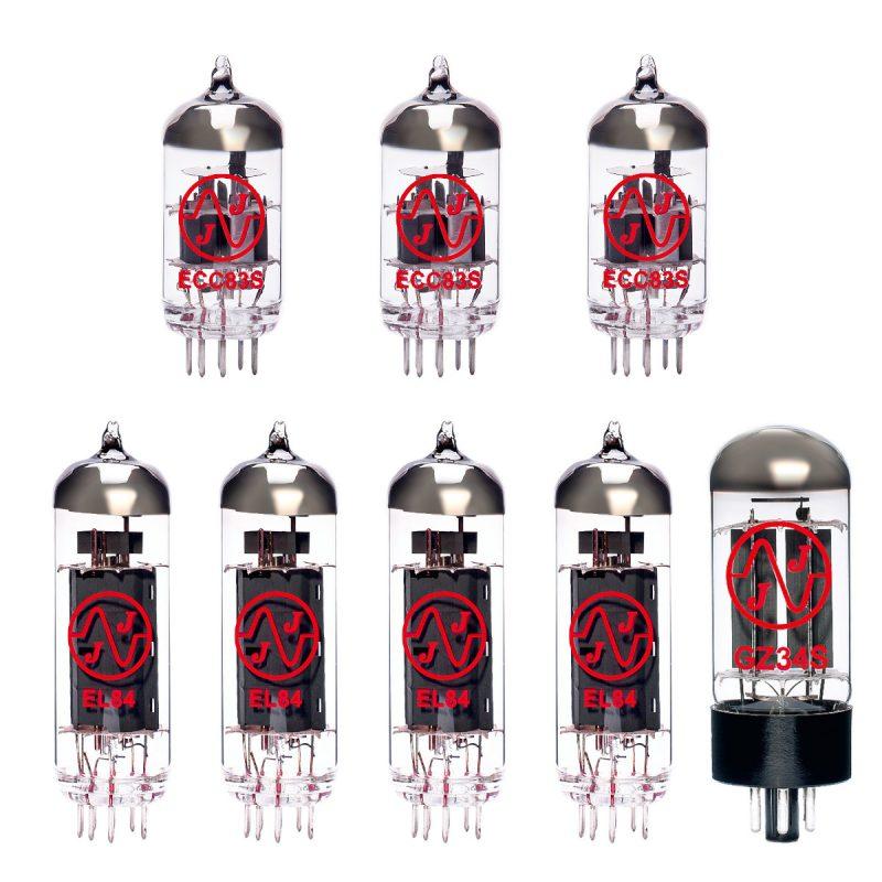 Ersatzröhren-Set für Vox AC30 HW2 Verstärker (2 x ECC83 1 x Symmetrische ECC83 1 x GZ34 4 x Gematchte EL84)