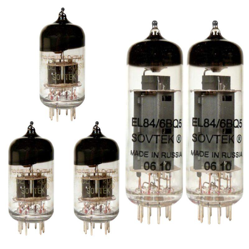 Sovtek Ersatzröhren-Set für Fender Blues Junior Verstärker (2 x Sovtek 12AX7WA 1 x Sovtek Symmetrische 12AX7WA 2 x Sovtek Gematchte EL84)